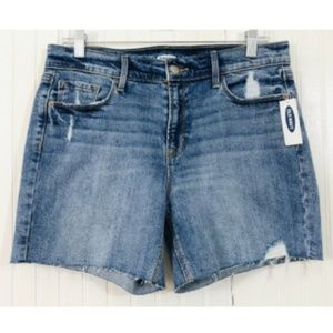 Old Navy NWT Jean Shorts Raw Hem Distressed Size 8